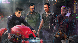 People Cyborg Motorcycle 7000x4040 Wallpaper