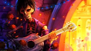 Coco Movie Guitar Skeleton 1920x1080 wallpaper