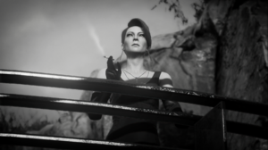 Hitman 3 Hitman Diana Burnwood Smoking Necklace Monochrome Video Games Looking Into The Distance Dre 1920x1079 wallpaper