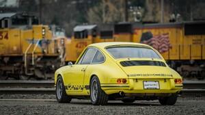 Car Old Car Porsche 911 Carrera T Sport Car Yellow Car 2048x1152 Wallpaper