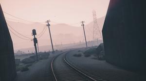 Grand Theft Auto V Railroad 3738x1380 wallpaper
