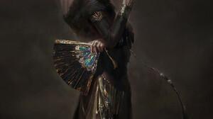 Yi Portrait Display Digital Painting Digital Art Simple Background Dress Women Wizard Black Dress Bl 2480x3508 Wallpaper
