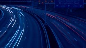 Car Motion Blur Movement Night Dark City Evening Long Exposure Road Street Traffic Highway Lights Ur 5881x3921 Wallpaper