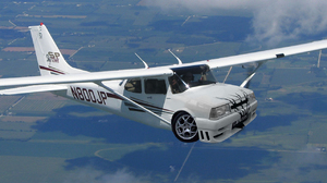 Photo Manipulation Flying Car 1280x1024 wallpaper