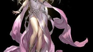 Bluezima Drawing Women Blonde Magician Spell Lights Long Hair Pink Dress Dress Pink Clothing Fantasy 1920x2350 Wallpaper