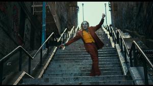Joker 2019 Movie Joker Joaquin Phoenix Men Film Stills Movies DC Comics Makeup Dancing Stairs 1920x1080 Wallpaper
