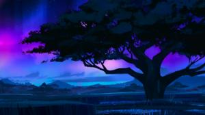 Artwork Nature Trees Night Blue Wakanda 1920x1080 Wallpaper