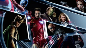 Black Widow Bruce Banner Captain America Iron Man Loki Nick Fury Thor 1920x1080 Wallpaper