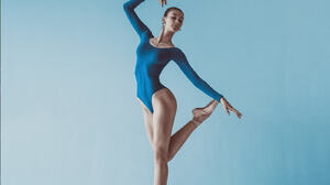 Women Dancer Dan Hecho Ballerina Ballet Slippers Gradient Blue Background Women Indoors Indoors Arms 1600x1600 Wallpaper