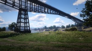 Red Dead Redemption 2 Red Dead Redemption Railway Beach Clouds Fictional PC Gaming Screen Shot Video 1920x1080 wallpaper