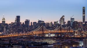 Bridge Building City Manhattan New York Queensboro Bridge Skyscraper Usa 2800x1575 Wallpaper