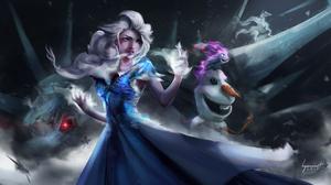 Disney Elsa Frozen Frozen 2 Olaf Frozen 3840x2266 Wallpaper
