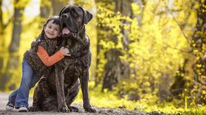 Cane Corso Dog Hug Little Girl Love 1920x1408 Wallpaper
