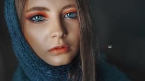 Eva Lapenko Face Hair Portrait Makeup Lips 4500x3000 Wallpaper