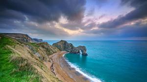 Arch Beach Coast Durdle Door England Horizon Nature 4096x2732 Wallpaper