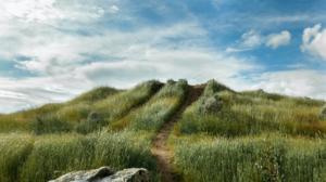 Nature Landscape Grass Dirt Road Clouds Sky Rocks Utah USA 1920x1080 Wallpaper