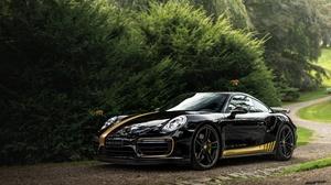 Black Car Car Porsche Porsche 911 Porsche 911 Turbo Sport Car Vehicle 5993x4001 Wallpaper