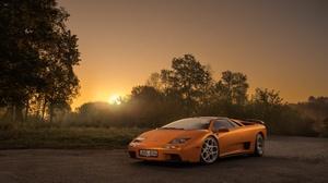 Car Lamborghini Lamborghini Diablo Orange Car Sport Car Supercar Vehicle 3840x2560 Wallpaper