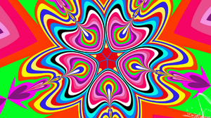 Abstract Artistic Colorful Colors Digital Art Kaleidoscope Shapes 1920x1080 Wallpaper
