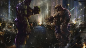 Hulk Thing Marvel Comics Bruce Banner 2560x1600 Wallpaper