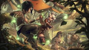 Child Nidalee League Of Legends Rengar League Of Legends 3500x1969 Wallpaper