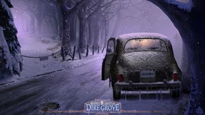 Mystery Case Files Dire Grove Old Car Road Snow Video Game Vintage Winter 1920x1200 Wallpaper
