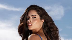 Women Model Lips Hair Blue Eyes Freckles 2488x1400 Wallpaper