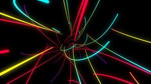 Neon Neon Lights Digital Art Colorful Shapes Simple Background Black Background Abstract Minimalism  3840x2160 Wallpaper