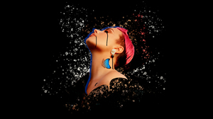 Demi Lovato Digital Abstract Illustration Celebrity Pink Hair Butterfly Tattoo 10976x5869 Wallpaper