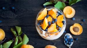 Apricot Blueberry Dessert Still Life 3872x2592 Wallpaper