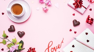 Coffee Cup Flower Gift Love Still Life Valentine 039 S Day 4608x3072 wallpaper