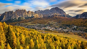 Dolomites Fall Italy Mountain Valley 2048x1365 Wallpaper