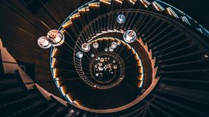 Spiral Staircase Stairs 7282x4857 Wallpaper