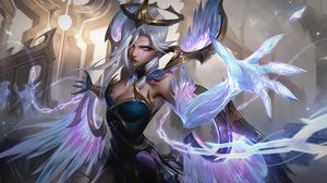Dawnbringer Dawnbringer Nightbringer Morgana Morgana League Of Legends League Of Legends Riot Games  7680x4320 Wallpaper
