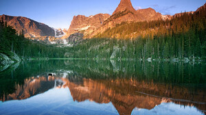 Landscape Nature Forest Water River Mountains Reflection 1920x1200 Wallpaper