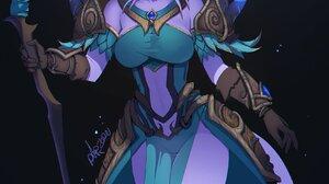 Warcraft World Of Warcraft Blizzard Entertainment Women Fantasy Girl White Hair Purple Eyes Elf Ears 1695x2549 Wallpaper