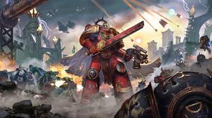Armor Battle Space Marine Warhammer 40k Warrior Weapon 5188x2800 Wallpaper