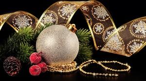 Christmas Ornaments Bauble 3774x2848 Wallpaper