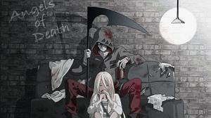 Zack Angels Of Death Rachel Gardner Satsuriku No Tenshi Scythe Girl Boy Blonde Long Hair Black Hair 3840x2160 Wallpaper
