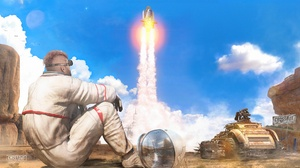 Astronaut Crossout Video Game Space Shuttle 1920x1080 Wallpaper