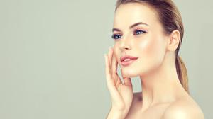 Face Hair Hand Portrait Makeup Blue Eyes 5705x3804 Wallpaper