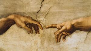 Hand 7562x3402 wallpaper