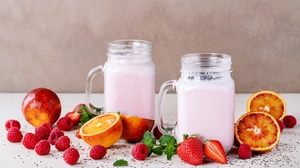 Berry Drink Fruit Smoothie Still Life Strawberry 6193x4129 Wallpaper