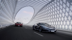 Car Road Asphalt Vehicle Black Cars Red Cars Supercars 2560x1707 Wallpaper