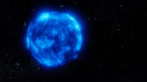Space Sun Stars Red Sun Blender 3D Abstract 3D Graphics Digital Art 1920x1080 Wallpaper