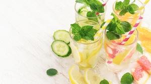 Drink Fruit Glass Lemon Mint Still Life 4608x3072 Wallpaper