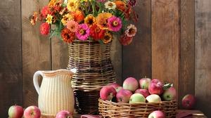 Apple Bouquet Flower Fruit Still Life 3818x2800 Wallpaper