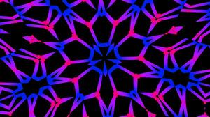 Abstract Artistic Colors Digital Art Kaleidoscope Neon 1920x1080 Wallpaper