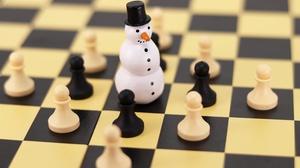 Chess Christmas Figurine 6000x4000 Wallpaper