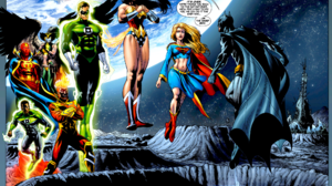 Batman Wonder Woman Green Lantern Hal Jordan John Stewart Green Lantern Hawkgirl Dc Comics Supergirl 2042x1377 Wallpaper